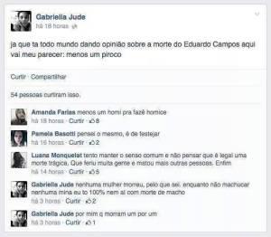 """Eduardo Campos: """"Menos um piroco no mundo"""""""