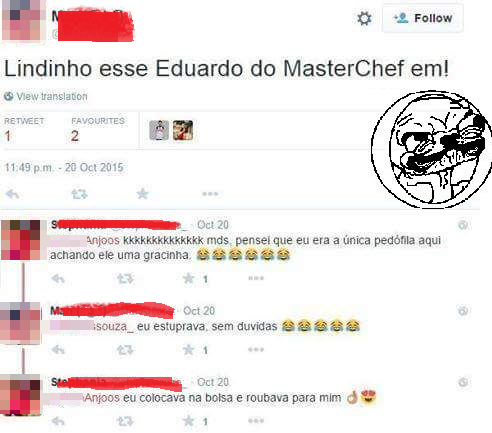 Eduardo, do Master Chef, sofreu ameaças sexuais, ocultadas pela mídia.
