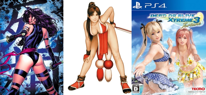 Psylocke, Mai Shiranui e Dead or Alive Extreme: Poderão ser censurados pelo projeto da Deputada Erika Kokay.